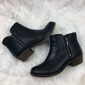 Lucky Brand Leather Ankle Boot Bootie